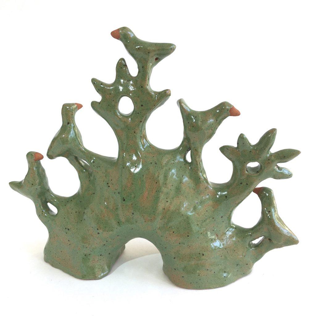 Animal Bridge IV, glazed earthenware, 13 x 16 x 5 cms